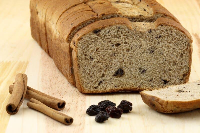 chlebowe dokrętek chlebowe rodzynki obraz stock