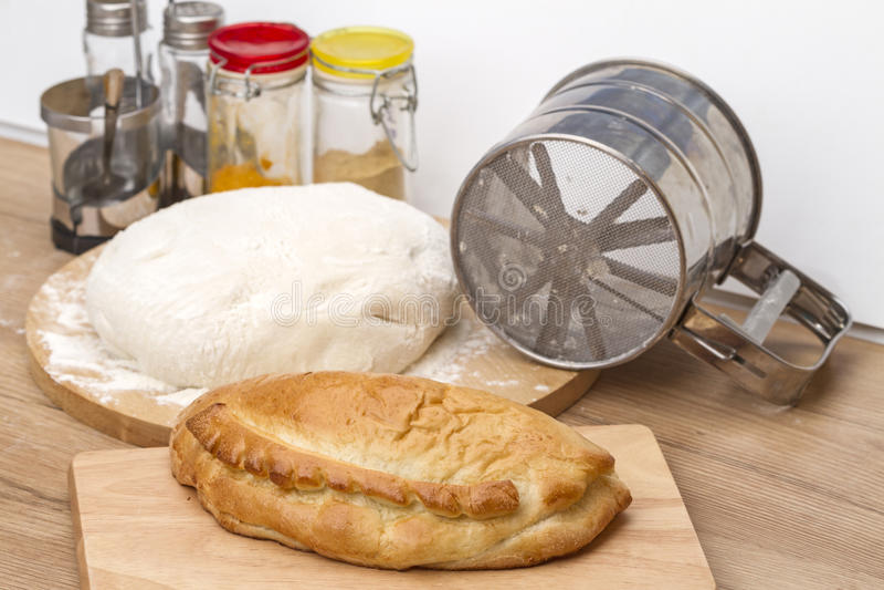 chlebowego ciasta robienie zdjęcie stock