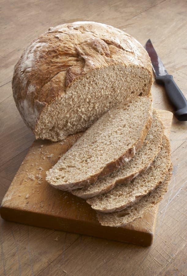 chlebowego noża plasterki zdjęcia stock