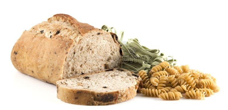 chlebowego oliwnego makaronu pokrojony pszeniczny cały zdjęcie stock