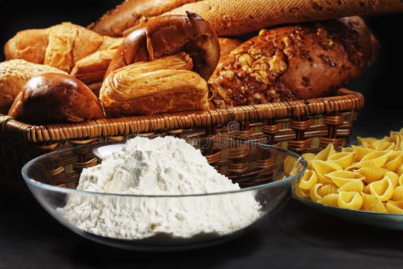 chlebowej mąki makaron obrazy royalty free