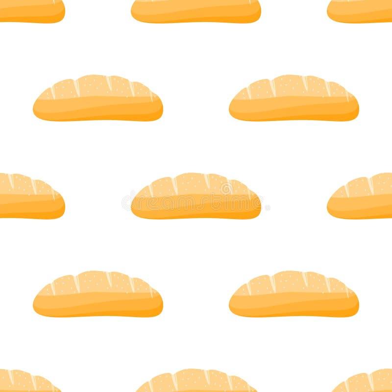 chlebowy deseniowy bezszwowy royalty ilustracja