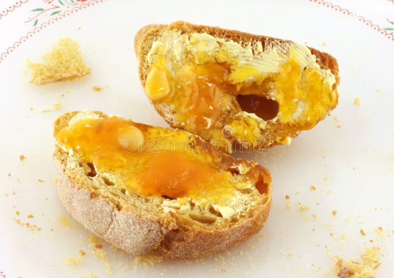 chlebowy masła miodu marmalade zdjęcie stock