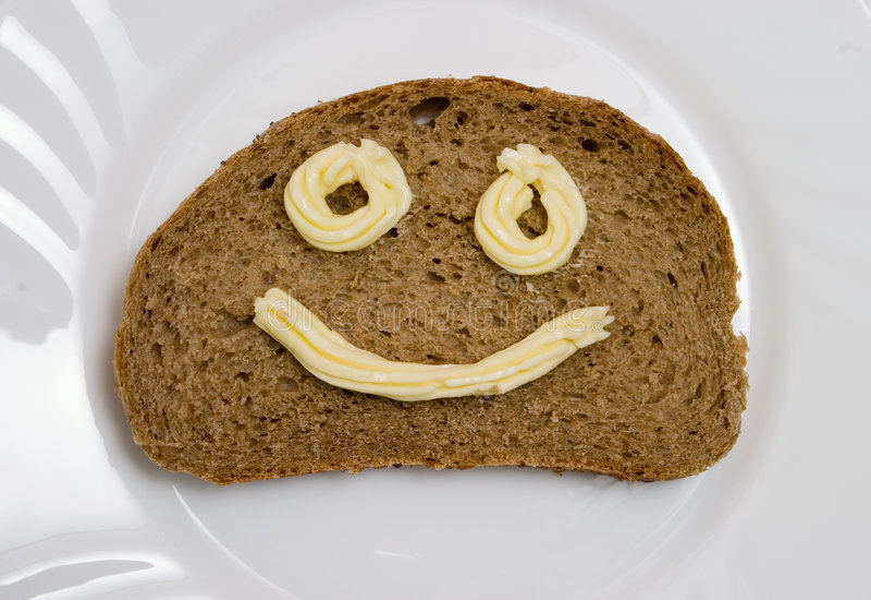 chlebowy masło obrazy royalty free