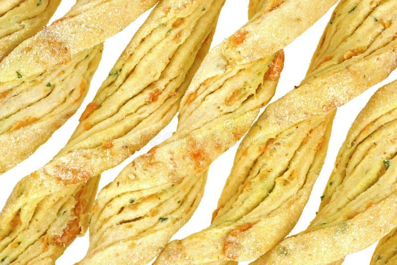 chlebowy sera zakończenia czosnku parmesan wtyka widok zdjęcie stock