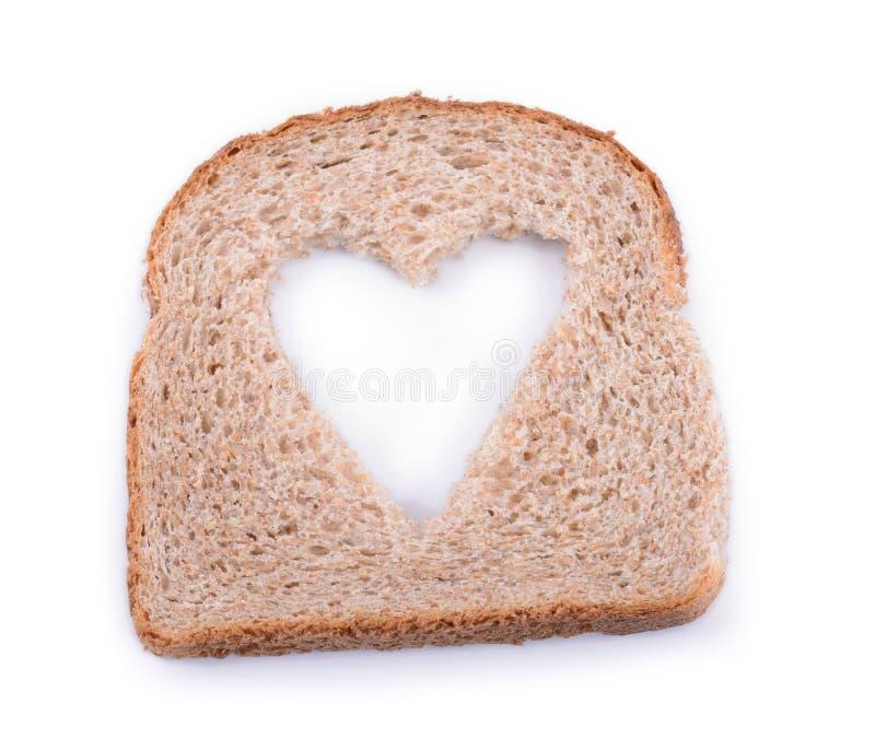 Chlebowy serce fotografia royalty free