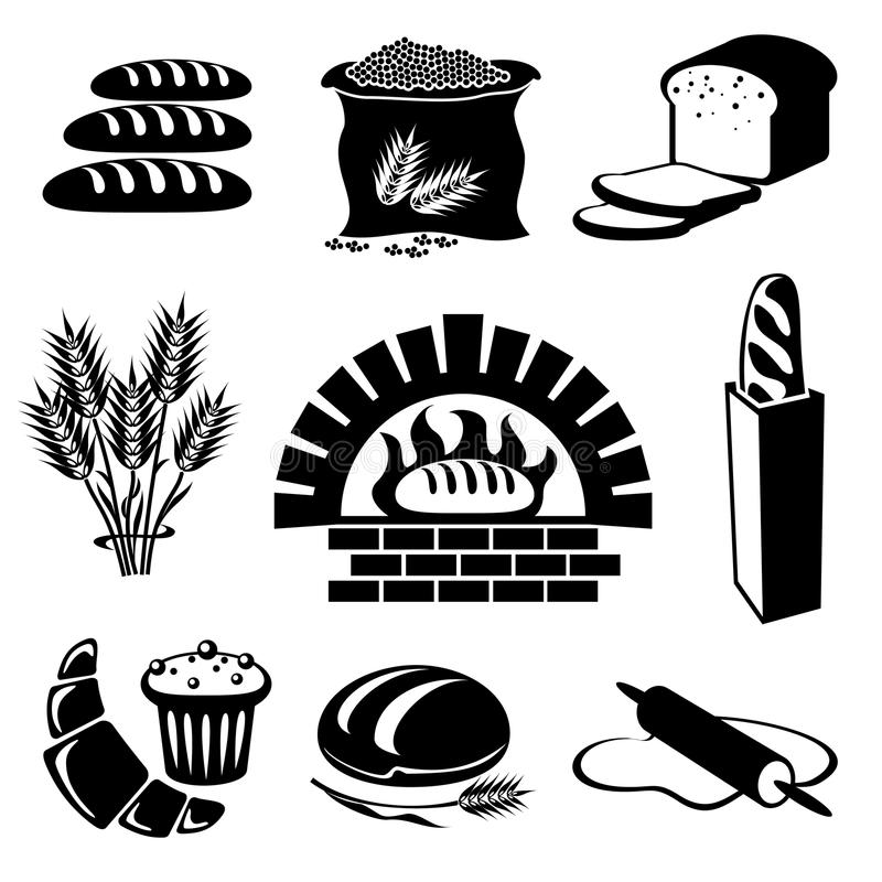 chlebowy set royalty ilustracja