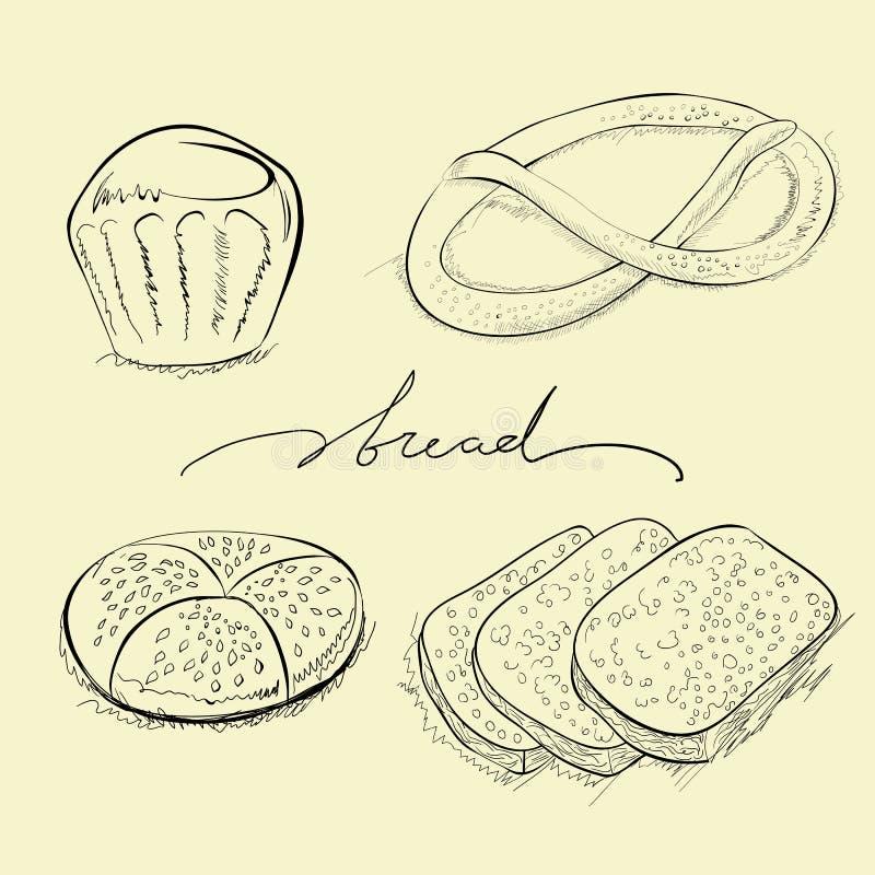 chlebowy tortowy precel royalty ilustracja