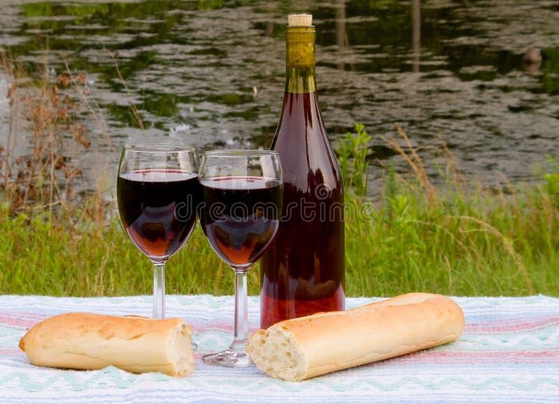 chlebowy wino obrazy royalty free