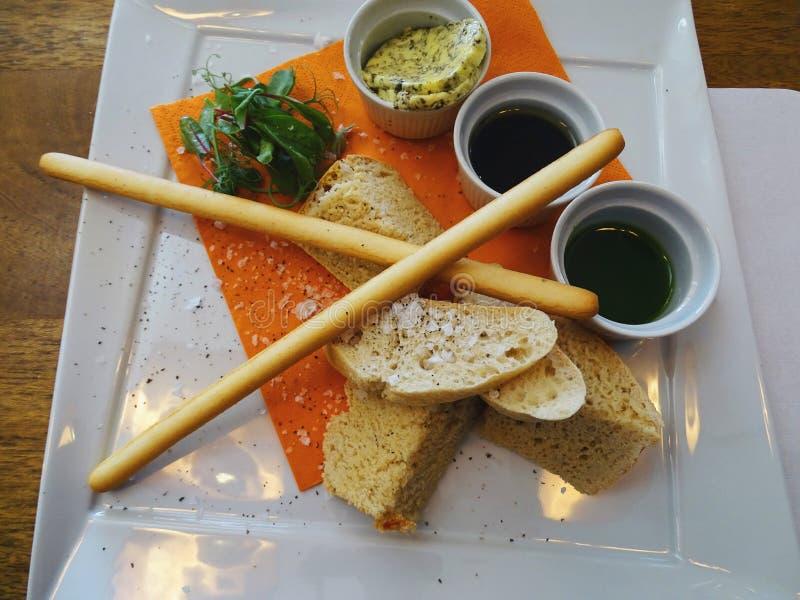Chlebowy wyboru półmisek zdjęcia royalty free