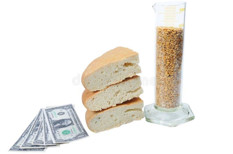chlebowy zlewka pieniądze zdjęcie royalty free