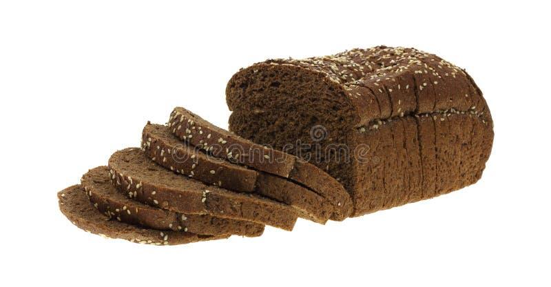 chlebowy zmroku adry bochenek pokrajać banatki całej zdjęcie stock