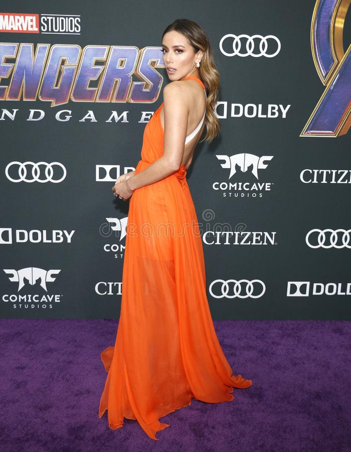 Chloe Bennet. At the World premiere of `Avengers: Endgame` held at the LA Convention Center in Los Angeles, USA on April 22, 2019 royalty free stock image