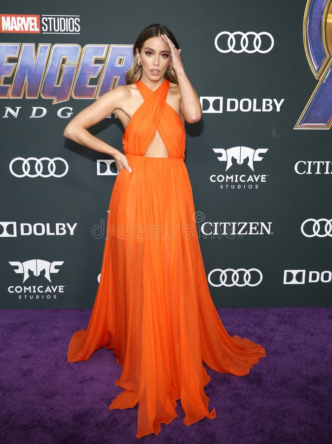 Chloe Bennet. At the World premiere of `Avengers: Endgame` held at the LA Convention Center in Los Angeles, USA on April 22, 2019 stock photography