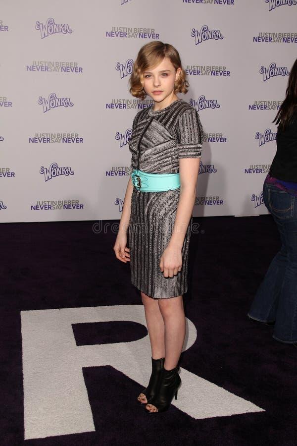 Chloe Moretz, Justin Bieber royalty-vrije stock fotografie