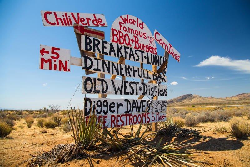 Chloride Arizona. CHLORIDE, ARIZONA - MAY 8, 2014: Sign at historic Chloride, Arizona. Once a silver mining camp in Mohave County, Arizona, Chloride is known as stock photo