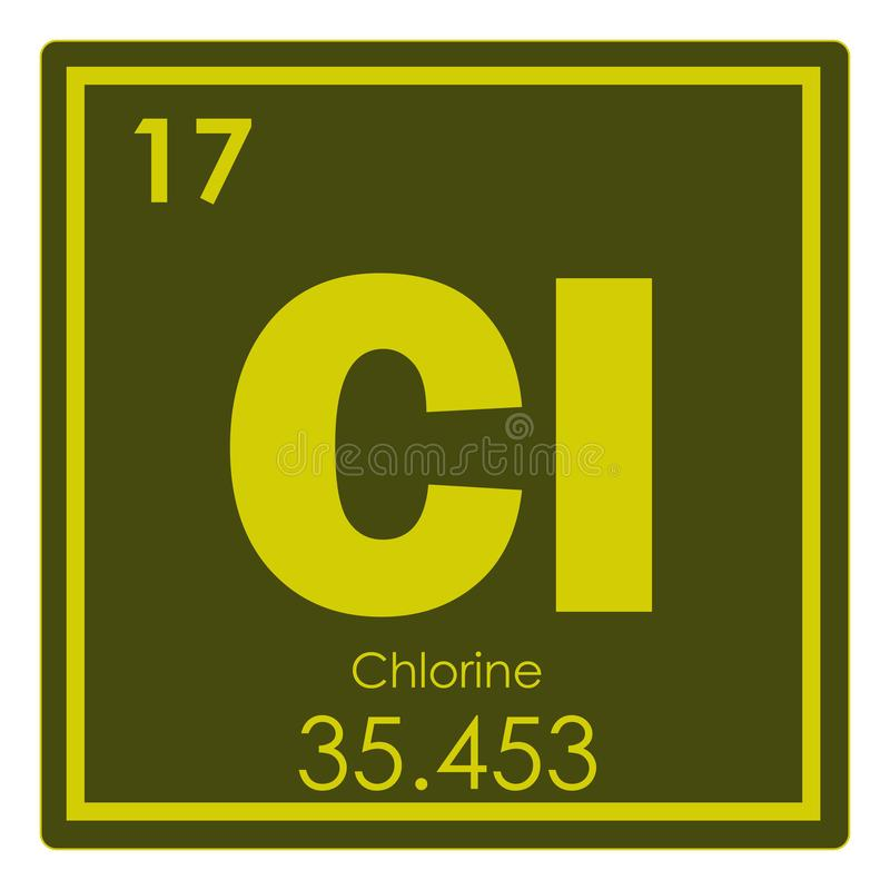 Chlorine Chemical Element Stock Illustration Illustration Of