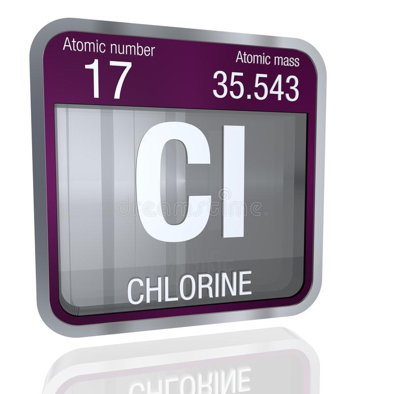Chlorine symbol in square shape with metallic border and transparent download chlorine symbol in square shape with metallic border and transparent background with reflection on the urtaz Gallery