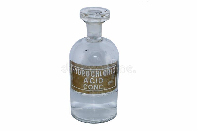 chlorowodorowa zjadliwa butelka zdjęcie royalty free