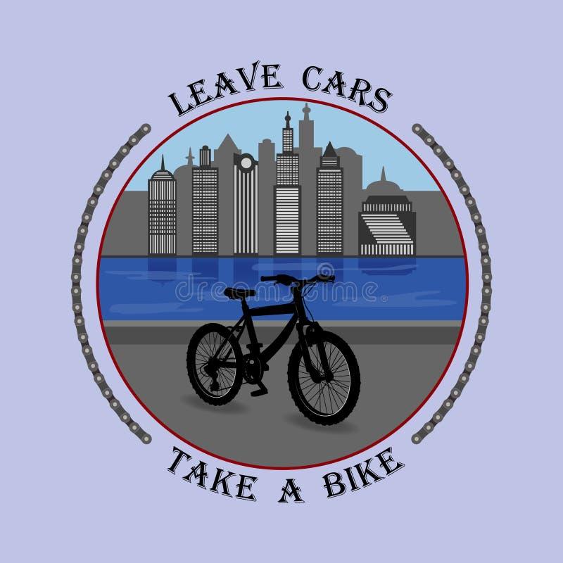 Chmiel na twój rowerze i był zdrowy royalty ilustracja