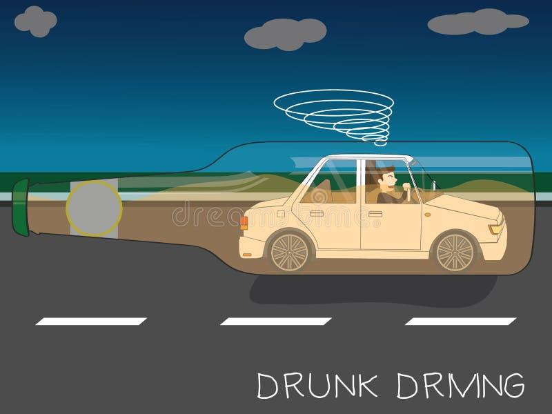 Chmielny kierowca robił trzaskowi ilustracja wektor