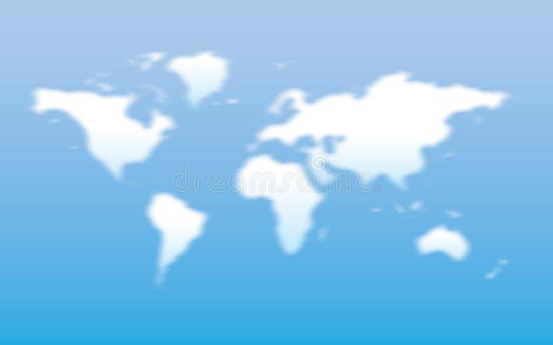 chmur mapy kształta świat royalty ilustracja