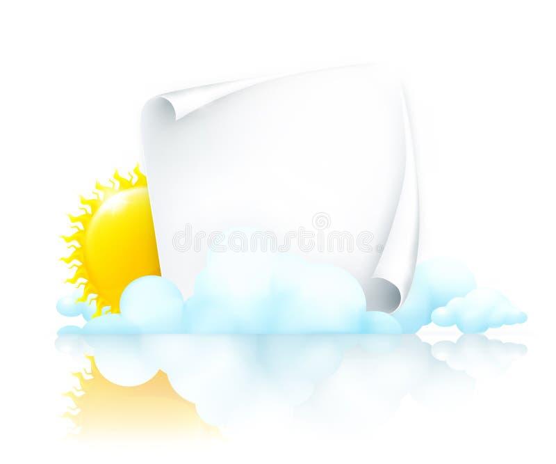 chmur ramy papier ilustracji