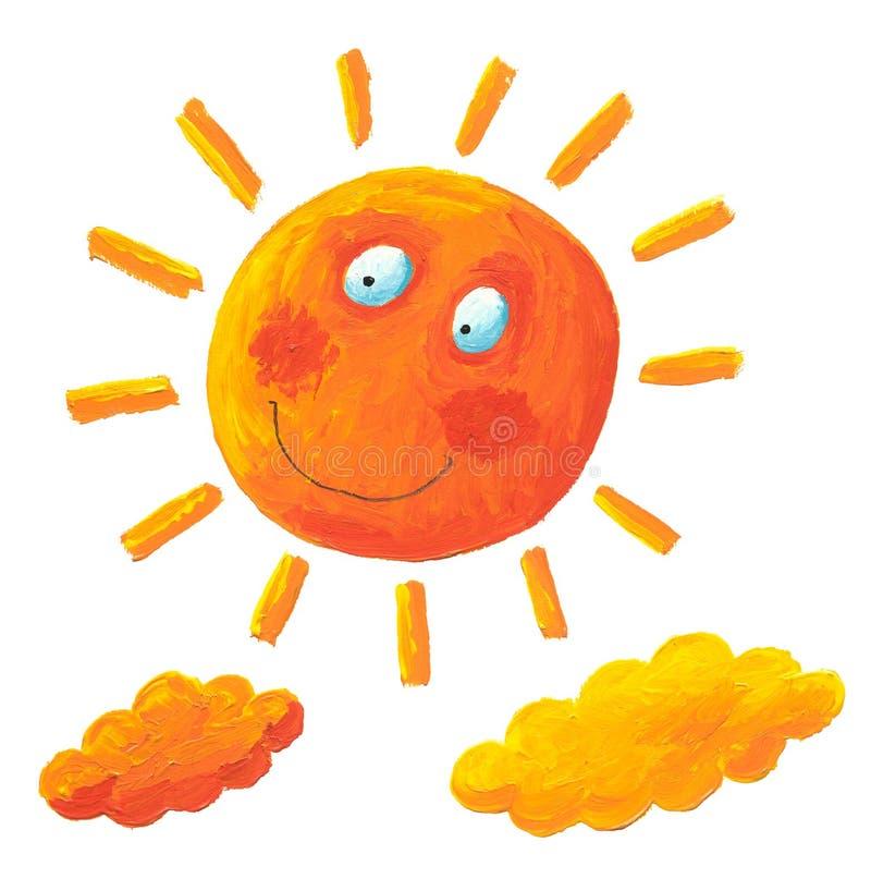 chmur słońca kolor żółty
