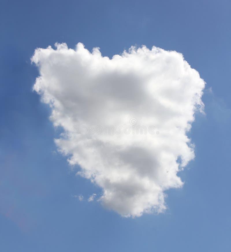 Chmura Kształtuje na niebieskim niebie, abstrakt chmur kształty z niebieskiego nieba tłem obraz stock