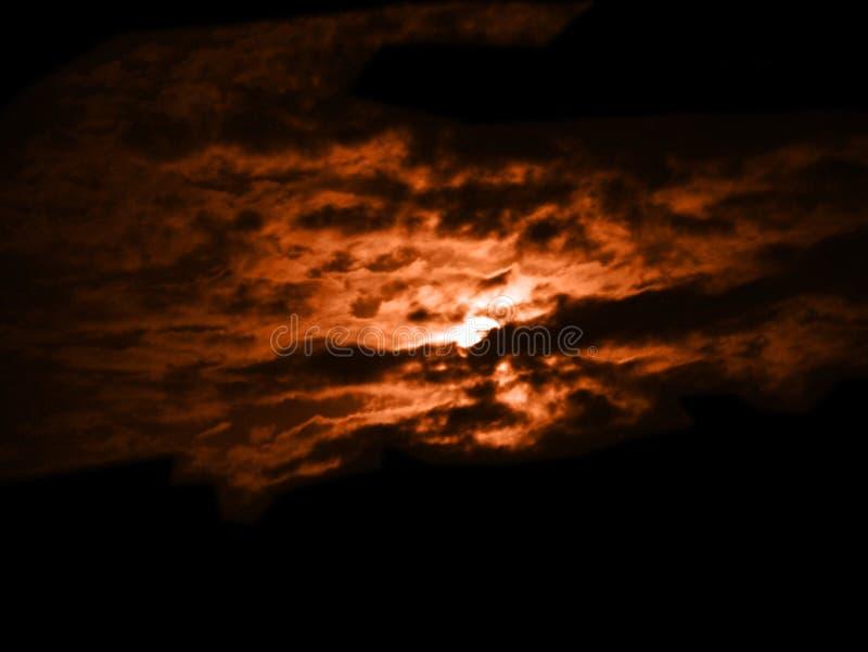 Chmura przy zmierzchem fotografia stock