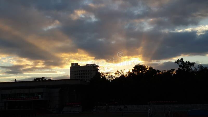 Chmura przy zmierzchem fotografia royalty free