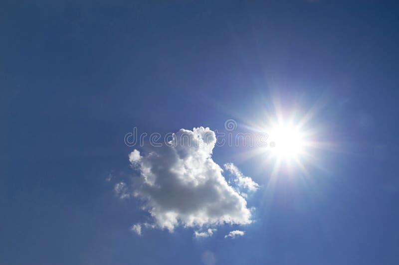chmura słońce obraz stock