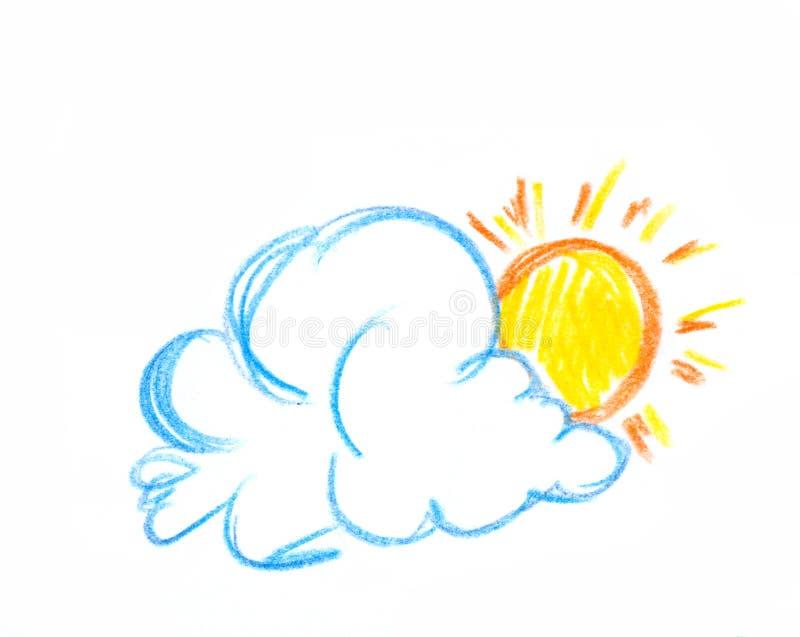 chmura słońce ilustracji