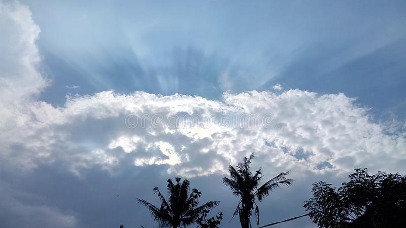 Chmura w dniu obrazy stock