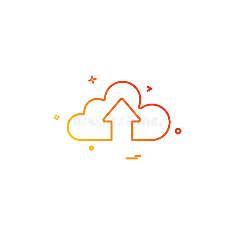 chmura w górę wektorowego projekta ilustracja wektor