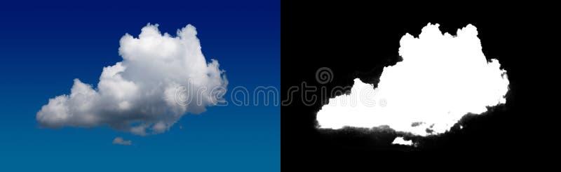 Chmura w niebie Halftone ścinku maska dla delikatnie rzeźbić out chmurę obrazy royalty free