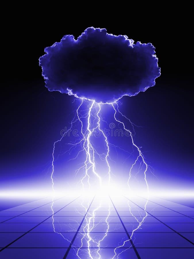 Chmura z lightnins zdjęcia royalty free