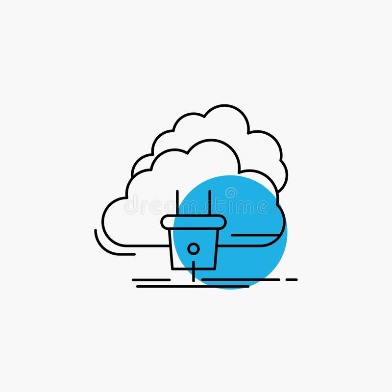 Chmura, związek, energia, sieć, linii energetycznej ikona royalty ilustracja