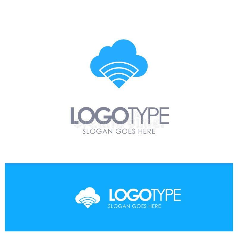Chmura, związek, Wifi, Sygnałowy Błękitny logo wektor ilustracja wektor