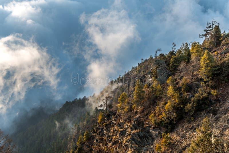 Chmurna góra fotografia stock