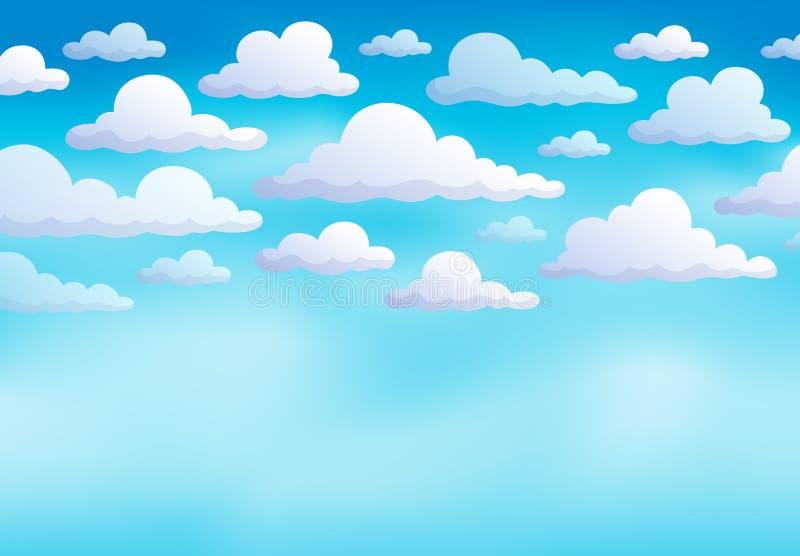 Chmurnego nieba tło 8 ilustracji