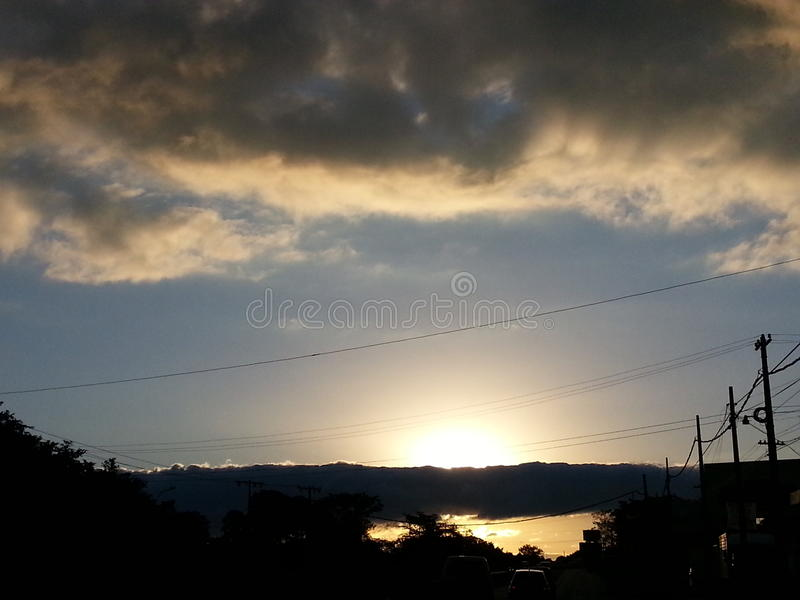 chmurnego nieba zmierzch zdjęcia royalty free