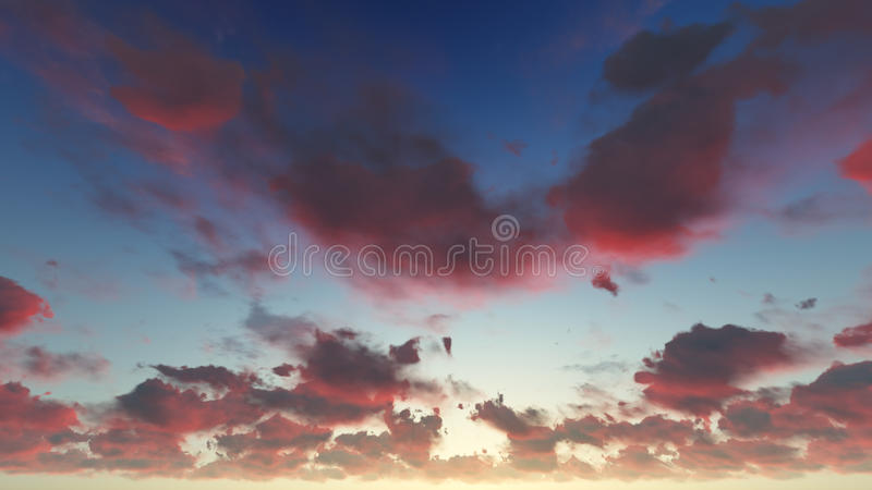 Chmurnego niebieskiego nieba abstrakcjonistyczny tło, 3d ilustracja obraz royalty free
