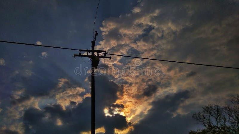 Chmurniejący niebieskie niebo obraz royalty free