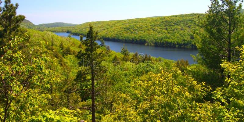 chmurnieje jezioro michigan fotografia stock