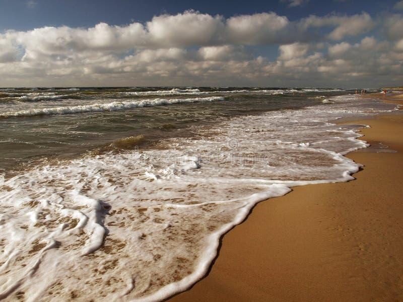 chmurnieje morze fotografia royalty free