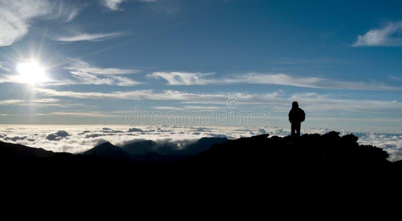 chmurnieje nadziemskiego niebo zdjęcie stock