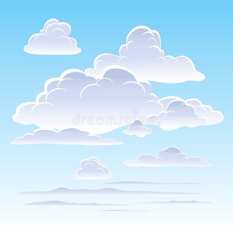 chmurnieje niebo royalty ilustracja