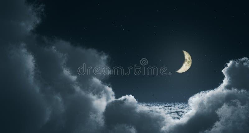chmurnieje noc obrazy stock