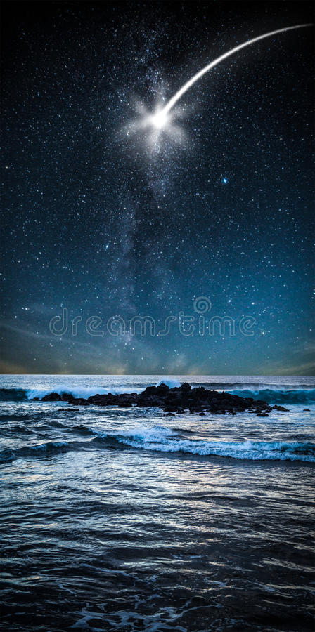 chmurnieje pojęcia nieba gwiazdy fotografia royalty free